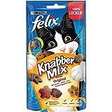 FELIX KnabberMix Original Katzensnack, Knusper-Leckerlie mit 3 Geschmacksrichtungen, 8er Pack (8 x 60g)
