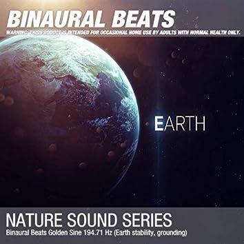 Binaural Beats Golden Sine 194.71 Hz (Earth stability, grounding)