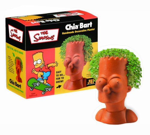 Chia Pet Bart, The Simpsons, Decorative Pottery Planter, Easy to Do and Fun to Grow, Novelty Gift, Perfect for Any Occasion