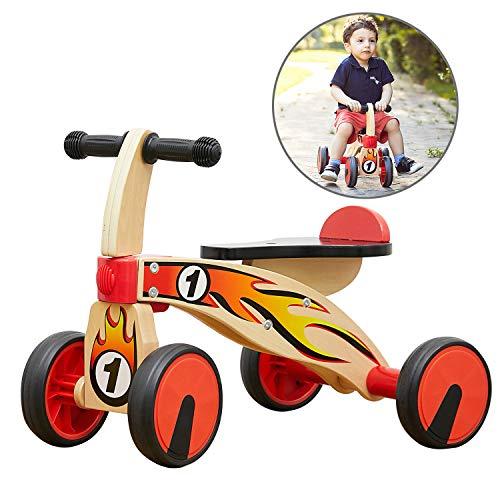 TOP BRIGHT Kinder Laufrad ab 1 Jahren Holz, Rutscher Spielzeug Baby Geschenke für Junge und Mädchen ab 1-2 Jahren