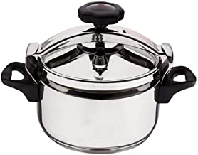 Pressure cooker household gas stove universal outdoor portable camping stainless steel explosion-proof small pressure cooker can be used in hotel restaurant (color: silver),30L
