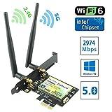 Ziyituod 次世代の超高速 Wi-Fi 6(802.11ax)PCIe 無線LANカード Intel Wi-Fi 6 AX200モジュール デュアルバンド 802.11ax(5GHz 2400Mbps / 2.4GHz 574Mbps) Bluetooth5.0対応 【iPhone 11/11 Pro 対応】 ZYT-AX200