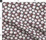 Spoonflower Fabric - Baseball Lovers Small Scale Strawberry Berry Raspberry Hedgehogs Printed on Minky Fabric by The Yard - Sewing Baby Blankets Quilt Backing Plush Toys