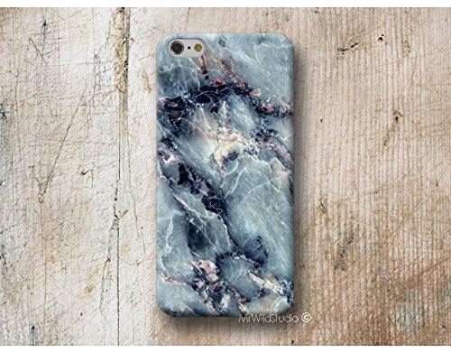 blau Marmor Hülle Handyhülle für HTC U11 10 M9 M8 A9 desire 626 Sony Xperia XZ3 XZ2 XZ1 Z5 Z3 compact M5 M4