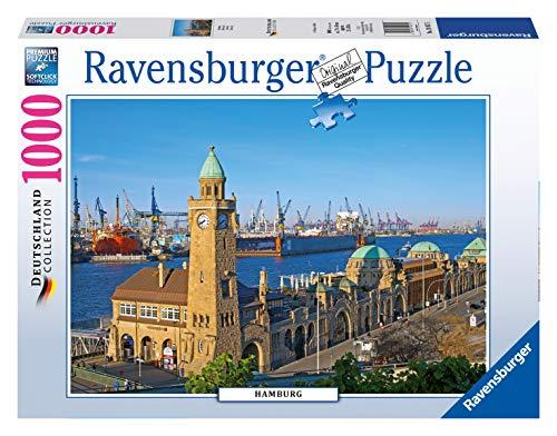 Ravensburger Puzzle 19457 - Hamburg - 1000 Teile Puzzle für Erwachsene und Kinder ab 14 Jahren, Stadt-Puzzle von Hamburg