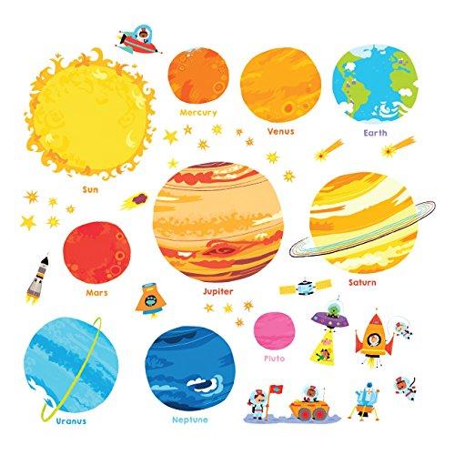 DECOWALL DS-8017 Planeta Espacio El Universo (Pequeña) (English Ver.) Vinilo Pegatinas Decorativas Adhesiva Pared Dormitorio Saln Guardera Habitaci Infantiles Nios Bebs