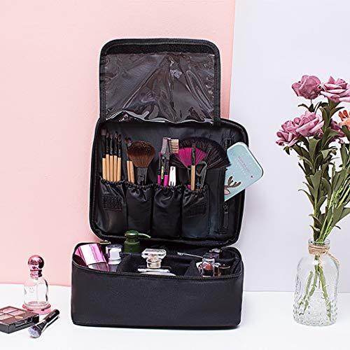 Lcb Trousse de maquillage de grande capacité Necessaire Corée du Sud Reist imperméable portable dans un sac de rangement cosmétique noir