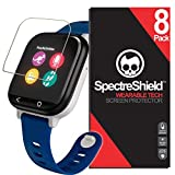 Spectre Shield (8 Pack) Screen Protector for Verizon GizmoWatch Accessory Verizon GizmoWatch Screen Protector Case Friendly Full Coverage Clear Film