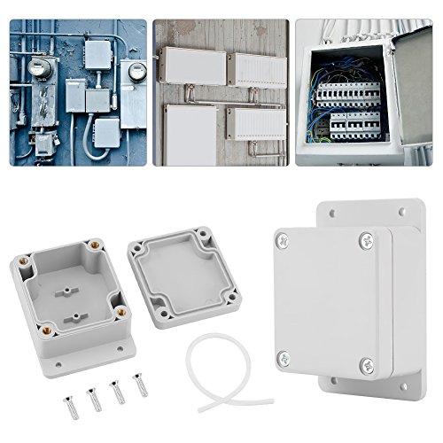 Caja de conexiones a prueba de agua, Plástico ABS Caja de conexiones a prueba de agua IP65 Caja de conexiones universal para proyectos eléctricos Blanco(89 * 59 * 35mm)
