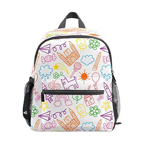 Preshool Zaini Doodle di carta colorata aereo dondolo candela modello farfalla bambino mini borsa scuola bambini zaini per ragazzi ragazze