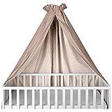 Sugarapple Himmel für Kinderbetten, Babybetten seitlich, quer verwendbar, Sterne beige, 100% Öko-Tex Baumwolle, 280x170 (BxH) cm