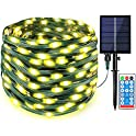 108Ft 300-LED Outdoor Solar Fairy String Lights with Remote