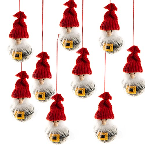 Logbuch-Verlag 10 gnomi da appendere, rosso, grigio, giallo, come piccolo regalo, decorazione per albero di Natale