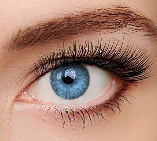 ELFENWALD farbige Kontaktlinsen, INTENSE BLAU/AZUR, natürlicher Look, maximaler Tragekomfort, ohne Stärke, 1 Paar weiche Farblinsen, inkl. Behälter und Anleitung 3 - Monatslinsen