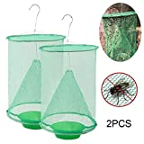Goglor Ranch Fly Trap, 2019 Most Effective Ranch Fly Catcher, Non-Toxic Folding Fly