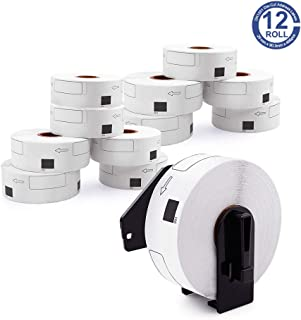 12 Rolls DK-1201 Address Label Replacement for Brother, Shipping Label 1.1 inch x 3.5 inch, Compatible with Brother QL-800 QL-700 QL-820nwb QL-570