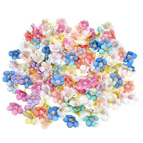 Zasiene Fiori Finti 100 Pezzi Teste di Fiori Artificiali Multicolore Margherita Seta Fiore Testa di Fiore Artigianale Fiori Artificiali per Decorazione Matrimonio Festa Casa