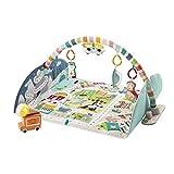 Fisher-Price Alfombra Gimnasio Jumbo Ciudad de Actividades con accesorios, luces y sonidos, juguete para bebés (Mattel GRV42)