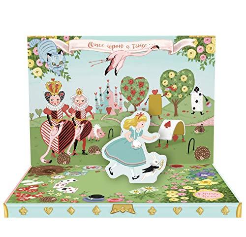 Adventures In Wonderland Music Box Card Novelty Dancing Musical Greeting Card