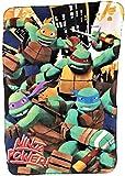 Turtles Mutant Ninja Fleece Throw Blanket Featuring TMNT Characters Raphael, Michelangelo, Leonardo, and Donatello