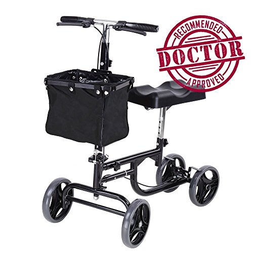 Review Of Koval Steerable Knee Scooter, Adult Walker w/Wheels and Basket