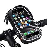 LuTuo Fahrrad Lenkertasche Wasserdicht, Handy Halterung Universal Motorrad Handyhalter für 5,5-7...