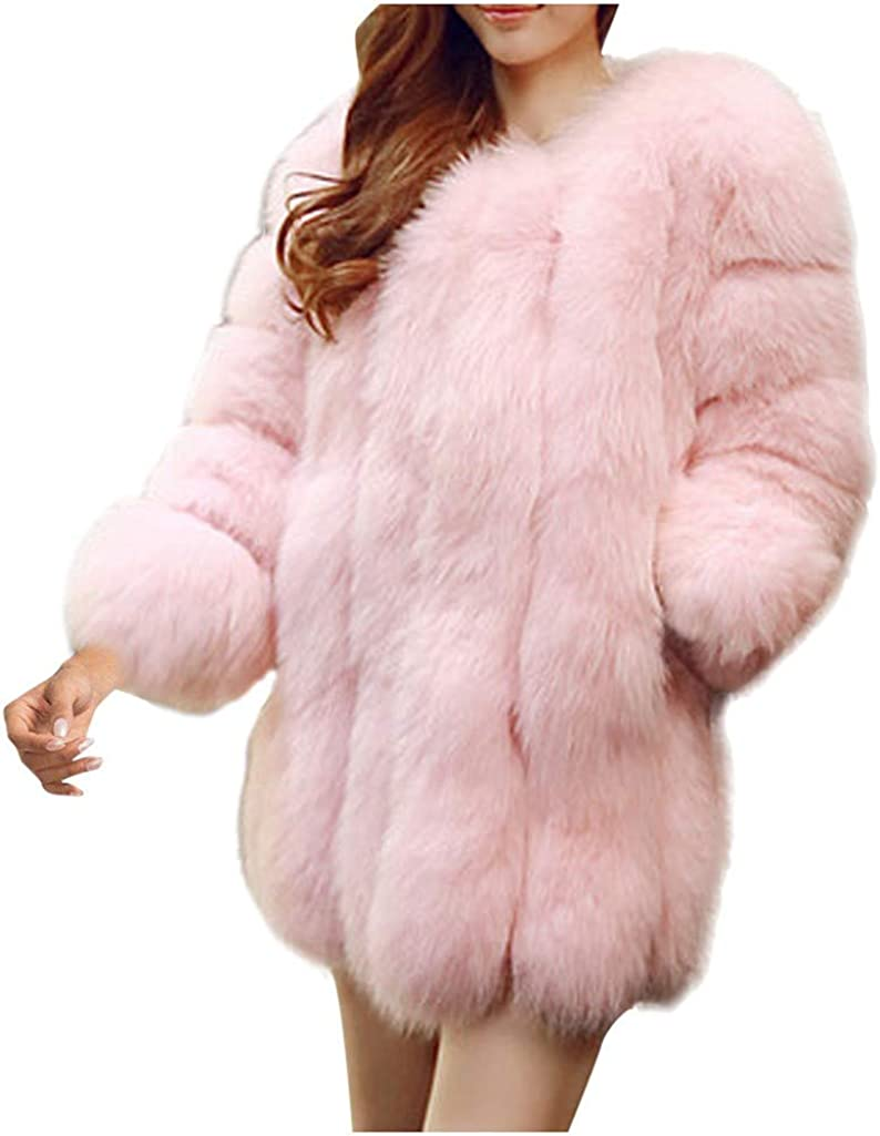 StyleV Womens Ladies Color Solid Faux Tunic Coat famous Our shop most popular Fox Fur Winter