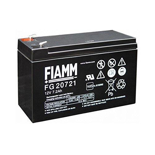 NUOVO FIAMM IC-FG20721 Batteria al Piombo 12V 7,2Ah (Fast |on 4,8mm)