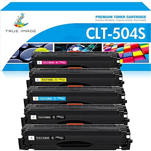 TRUE IMAGE Compatible Toner Cartridge Replacement for Samsung CLT 504S CLT-K504S Toner Samsung Xpress SL-C1860FW C1810W CLX-4195N 4195FN 4195FW CLP-415NW 415N (Black Cyan Yellow Magenta, 5-Pack)