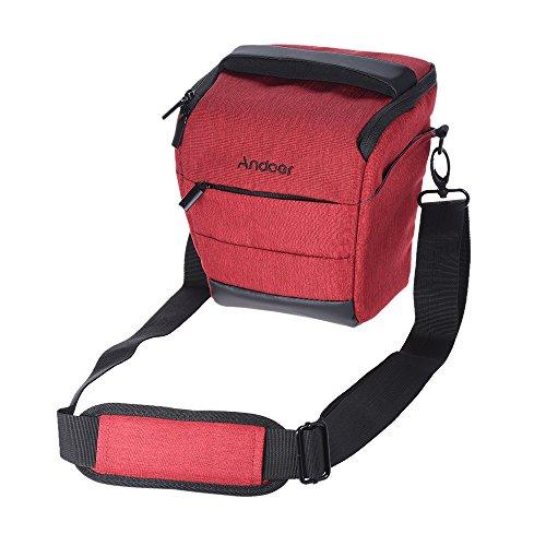 Andoer Portable Mochila de Cámara de Poliéster Liso para 1 Cámara 1 Lente para Canon Nikon Sony Fujifilm Olympus Panasonic (1 #)