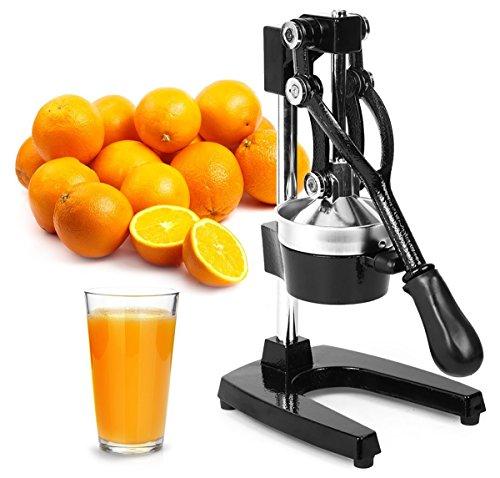 Exprimidor de cítricos profesional, prensa manual de cítricos y exprimidor de naranja, exprimidor de limón de metal – Exprimidor manual de limón de alta calidad y soporte para exprimidor de lima