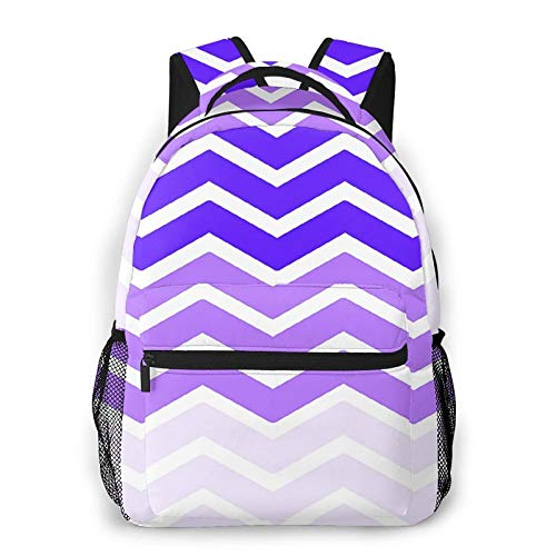 Backpack for Boys Girls Teen, Purple Wave Travel Laptop Backpacks School Bag College Bookbag Daypack