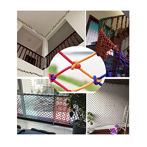XYUfly20 Color Nylon Mesh Plant Climbing Net Hand-woven, Strong Impact Resistance 6mm Diameter 6cm Grid Suitable For Home Decoration Of Indoors, Stairs, Children's Beds, Corridors, And Balconies