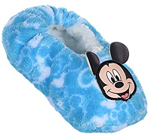 Mickey Mouse Boys Slippers Blue