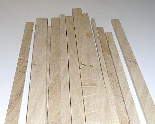 10 Bastelleisten Vierkantstäbe Eiche 1 Meter lang, sägerau, Modellbauleisten 20 x 2mm