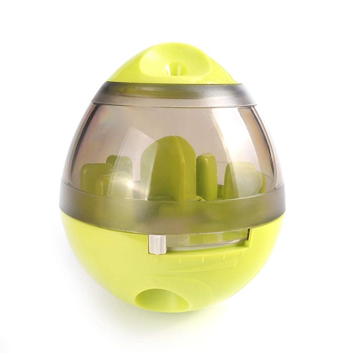 おもちゃ取り囲む絶壁IUYWLペットボール ペット用おもちゃ、タンブラーラバーベース、噛みにくいペット、フードボール、パズルペットトレーニングボール IUYWLペットボール (Color : Green)
