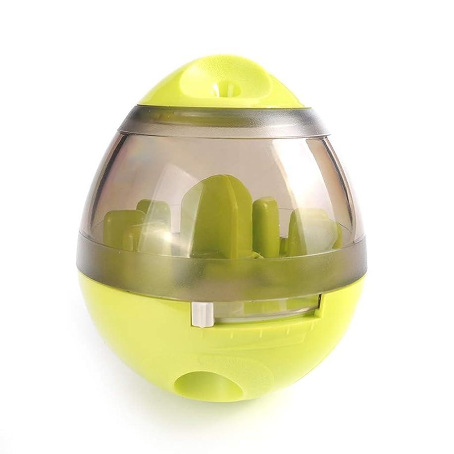 慢性的グロー鮮やかなIUYWLペットボール ペット用おもちゃ、タンブラーラバーベース、噛みにくいペット、フードボール、パズルペットトレーニングボール IUYWLペットボール (Color : Green)