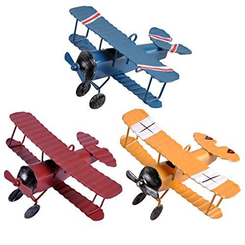 eZAKKA Avionetas de Metal modelo retro, Juguete de Aeronave