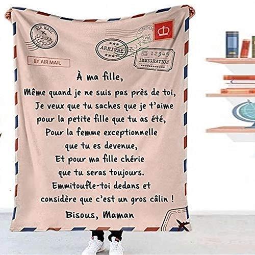 Zoomarlous - Manta de franela para niña/hijo, diseño de letra aérea