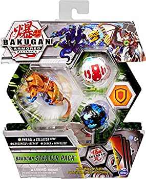 Bakugan Starter Pack 3-Pack Fused Pharol x Gillator Ultra Armored Alliance Collectible Action Figures