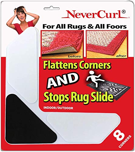 Grips The Rug with Nevercurl Includes 8