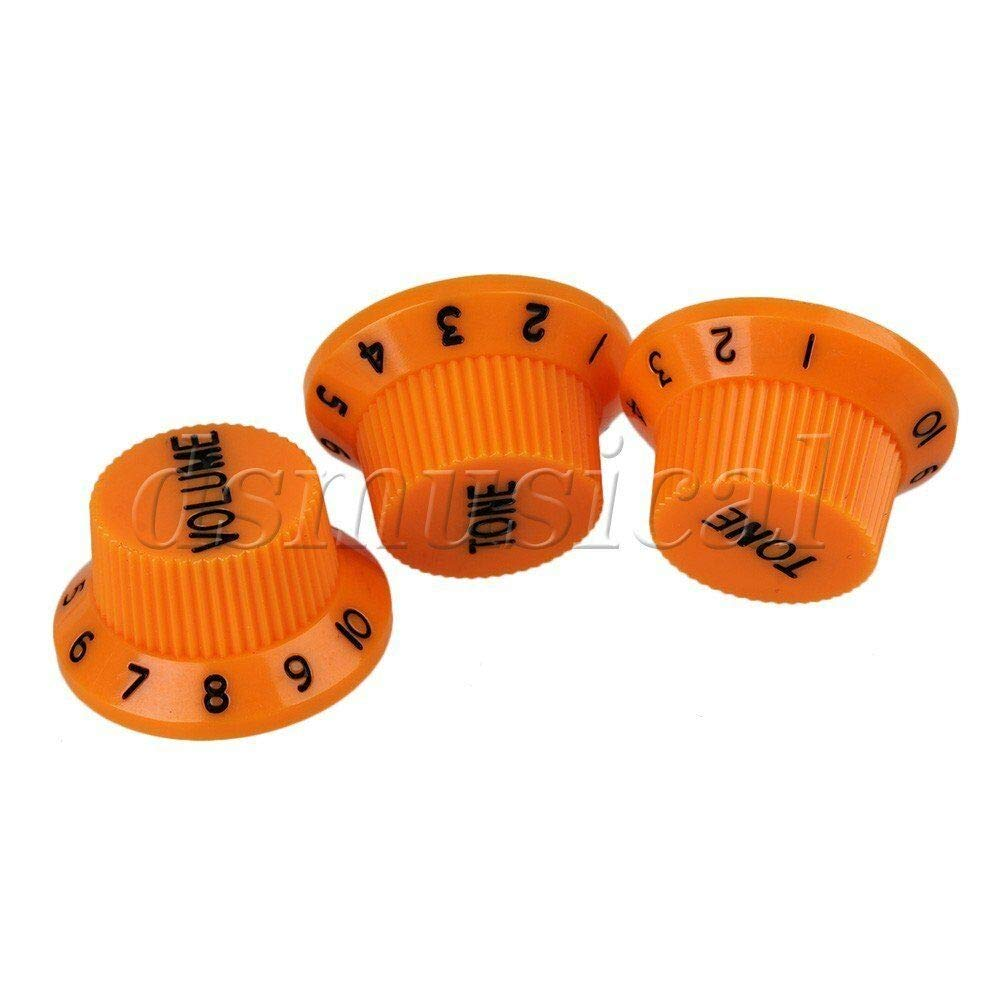 Guitar Challenge the lowest price of Japan Parts Superior Orange Plastic 1V2T Hat Hut Top Bel Control