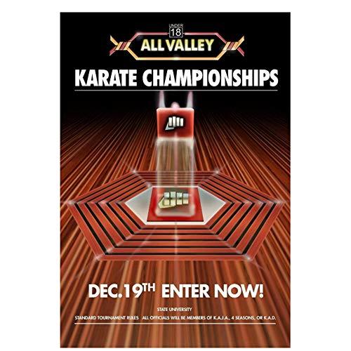 Sanwooden Karate Kid Turnier All Valley Poster Ab 1984 Film Cobra Kai Sweep The Leg Ölgemälde Leinwand Wandkunst für Wohnzimmer -50x70cm No Frame