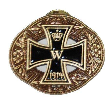 Original Handycop® Ansteckpin P90214 PIN aus Metall für Sammler Motiv - 1914 Eisernes Kreuz auf goldenem Oval