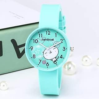 Mandalaa Cartoon Women Round Dial Fashion Ladies Watches Slim Silicone Band Quartz Watch Women Thin Casual Strap Watch
