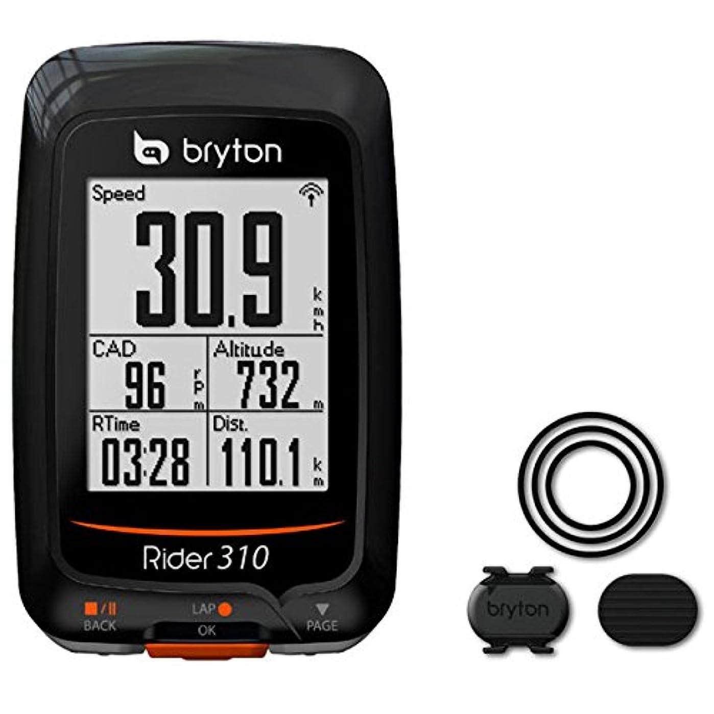 否認するオプショナルアルネブライトン Rider310C ケイデンスセンサー付 GPS ブラック(TB0F0R310CBLK)