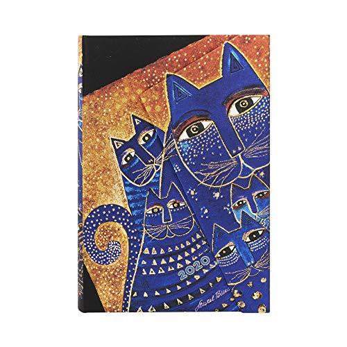 Paperblanks 12-Monatskalender 2020 | Katzen des Mittelmeers |Verso | Mini (140 x 100 mm)