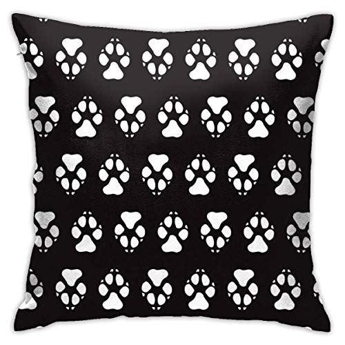 Moily Fayshow Colorful Dog Paw Print Black Square Throw Pillow Case Decorative Cushion Cover Pillowcase 40 X 40 Cm