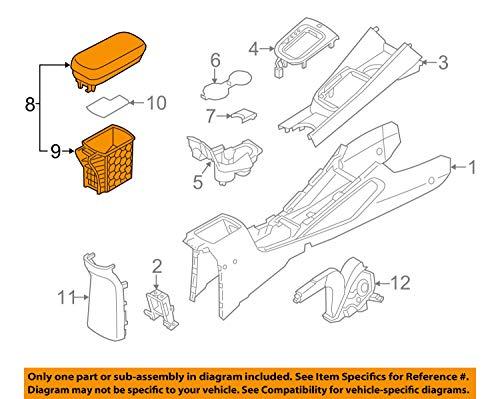 Kia Motors Genuine Storage Center Console Armrest Box Black 1-pc Set For 2012 Kia Rio : All New Pride
