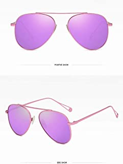 ZMP Outdoor Seaside Sunscreen Polarized Sunglasses Fishing Vintage Retro Frame Elegant Sunglasses (Color : Purple)
